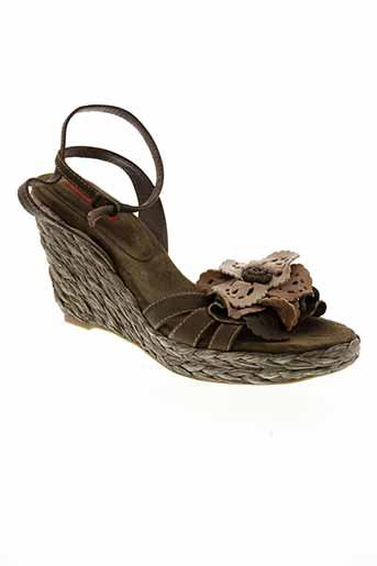 lodi sandales et nu et pieds femme de couleur vert