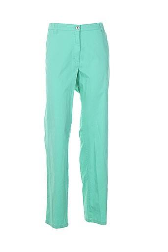 kjbrand pantalons femme de couleur vert