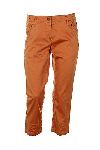 atelier gardeur pantacourts femme de couleur orange