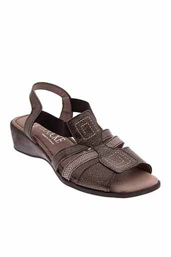jmg et houcke sandales et nu et pieds femme de couleur gris