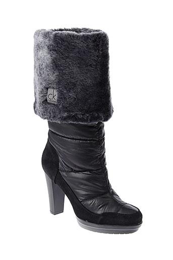 calvin et klein bottes femme de couleur noir