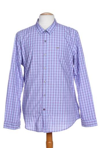 delahaye chemises homme de couleur bleu