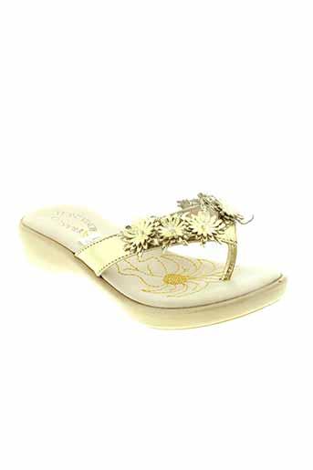 romagnoli chaussures fille de couleur jaune