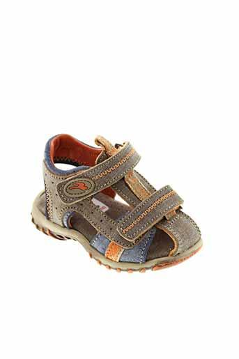 romagnoli chaussures garçon de couleur marron