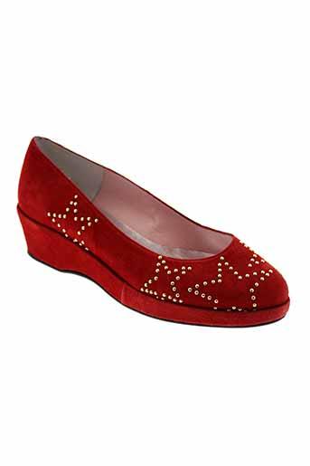 sanche de la rosa chaussures femme de couleur rouge