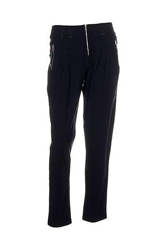 innate pantalons femme de couleur noir