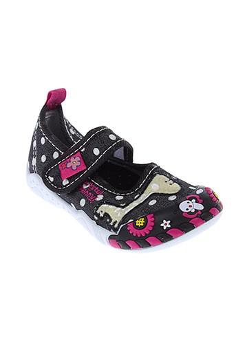 super gear chaussures fille de couleur noir
