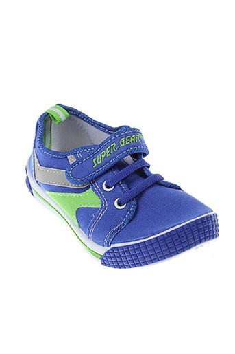 super gear chaussures garçon de couleur bleu