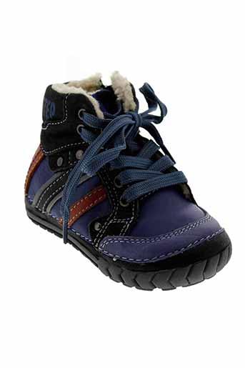 d et d et step boots garcon de couleur bleu