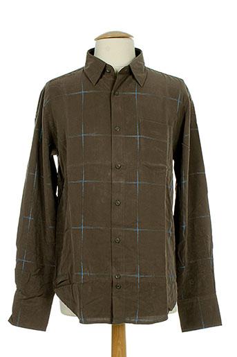 sun valley chemises homme de couleur marron