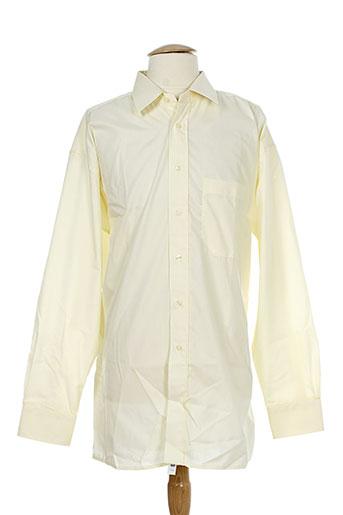 pierre clarence chemises homme de couleur jaune