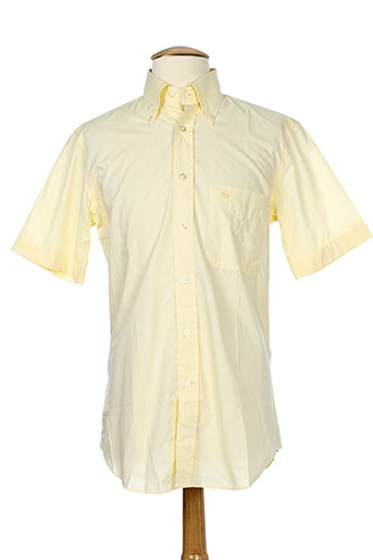 pal zileri chemises homme de couleur jaune