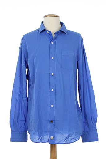 r95th chemises homme de couleur bleu