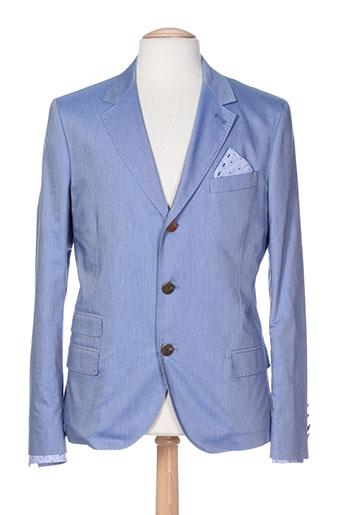 franckie et morello vestes homme de couleur bleu