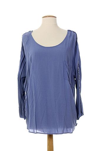 blue denim chemises femme de couleur bleu