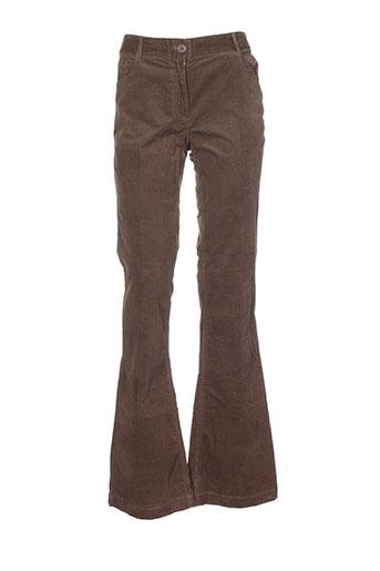 essentiel pantalons femme de couleur marron