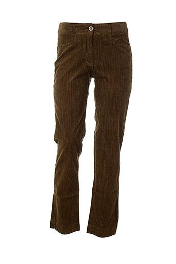 villaret pantalons et citadins femme de couleur marron