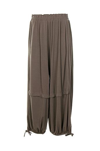 bella blue pantalons femme de couleur marron