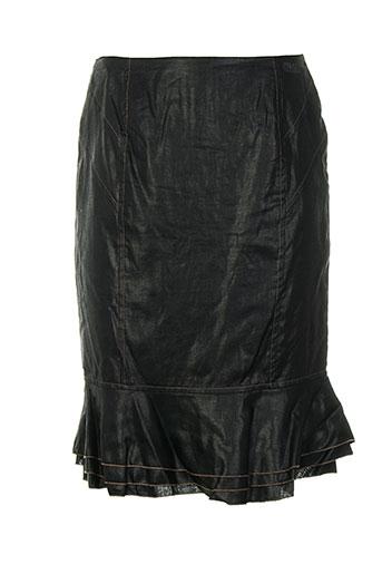Jupe mi-longue noir CINOCHE pour femme