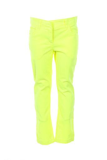 lili gaufrette pantalons fille de couleur jaune