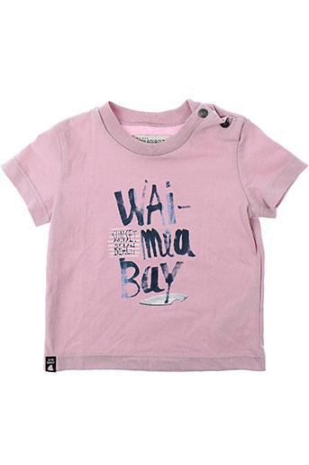 jean bourget t-shirts garçon de couleur rose