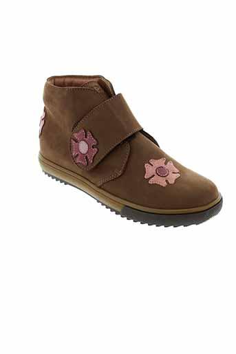 lepi boots fille de couleur marron