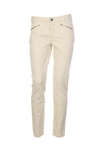 josephine et c.o pantalons femme de couleur beige