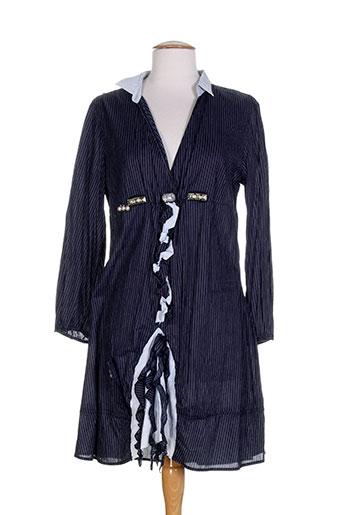 Robe mi-longue bleu ELSIA pour femme