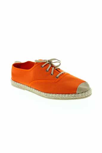 souts espadrilles femme de couleur orange