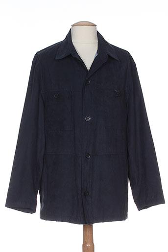 bush vestes homme de couleur bleu