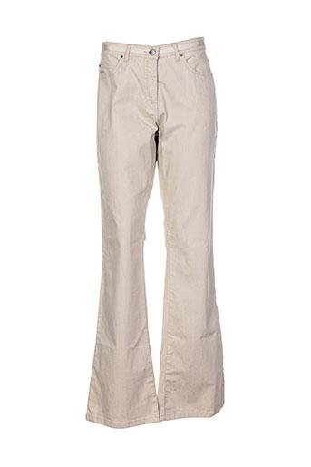 natan pantalons et decontractes femme de couleur beige