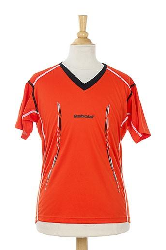 babolat t et shirts et tops garçon de couleur orange