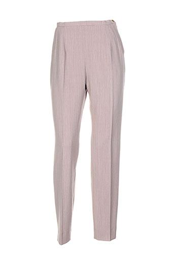 atika pantalons femme de couleur beige