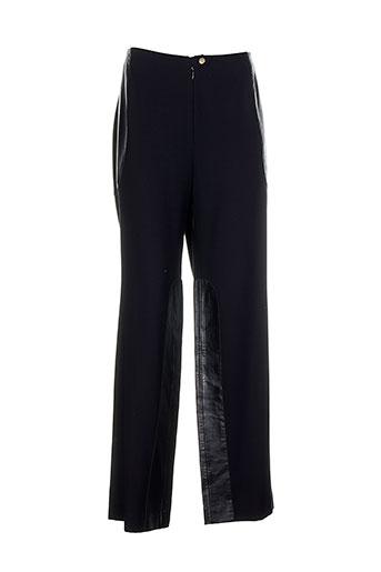 lecoanet hemant pantalons femme de couleur noir