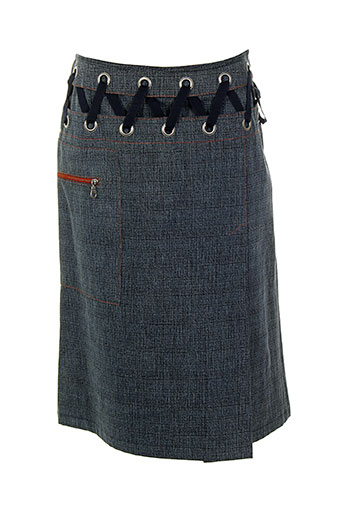 lecoanet hemant jupes femme de couleur bleu