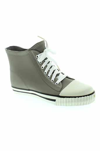 no blues chaussures femme de couleur gris