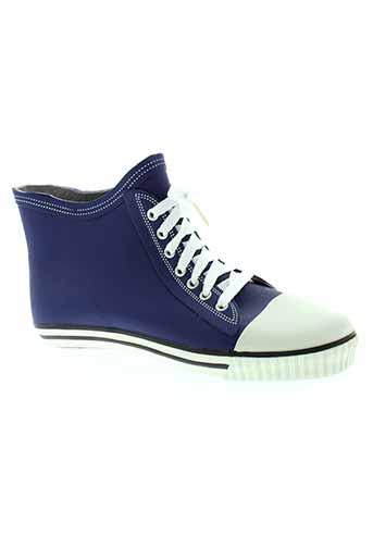 no et blues boots femme de couleur bleu