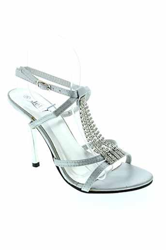 jet et 7 sandales et nu et pieds femme de couleur gris