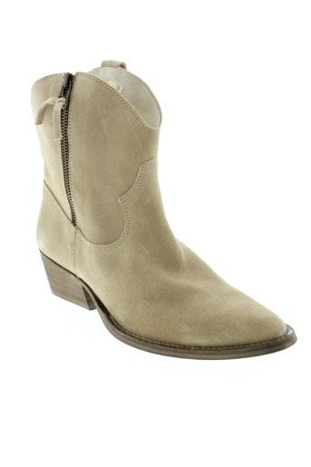 ilario et ferucci boots femme de couleur beige