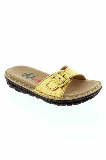 naturino chaussures fille de couleur jaune