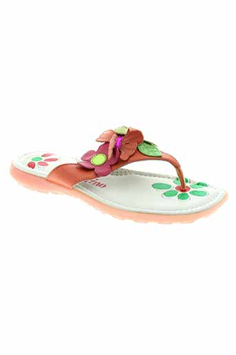 naturino tongs fille de couleur orange