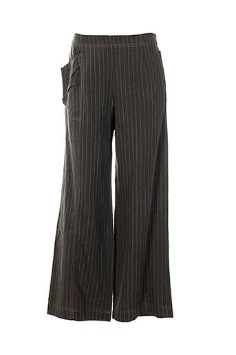 bellocoton pantalons femme de couleur gris