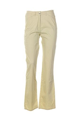 jocavi pantalons femme de couleur jaune