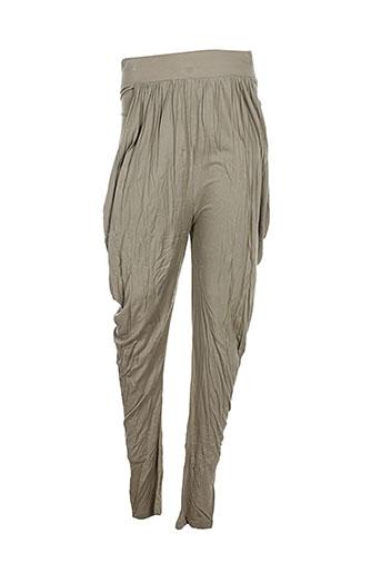 les petites... pantalons femme de couleur beige
