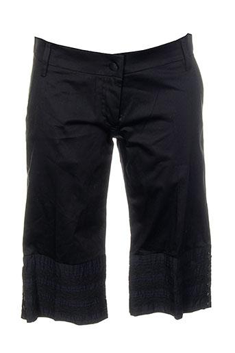 strass shorts / bermudas femme de couleur noir