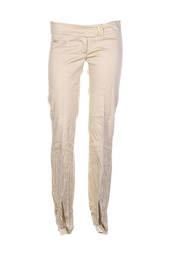 Pantalon chic beige DRAGON S pour femme