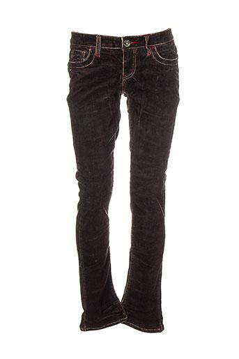marlow pantalons femme de couleur marron