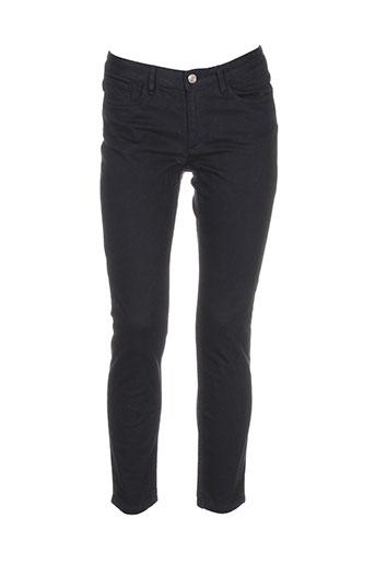 a.p.c. pantalons femme de couleur noir
