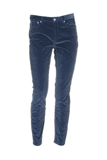 a.p.c. pantalons femme de couleur bleu