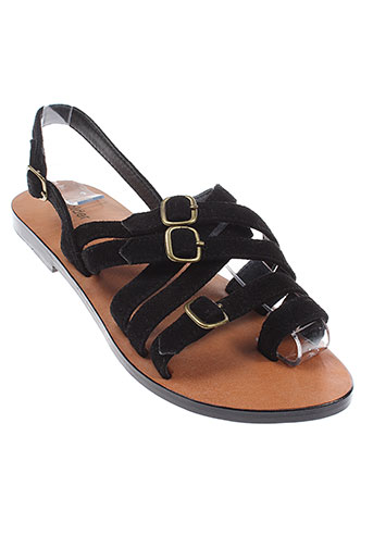 polder chaussures femme de couleur noir
